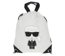Rucksack Karl Ikonik Nylon Flat Backpack White