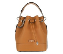 Beuteltasche Ninon Grained Leather Bucket Bag Small