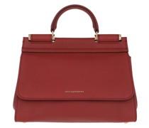 Satchel Bag D&G Sicily M Sheating Rosso