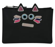 Plexi Cat Pouch Small Black Pochette schwarz