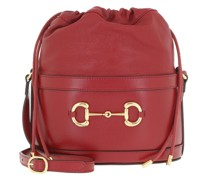 Beuteltasche Horsebit Bucket Bag Red
