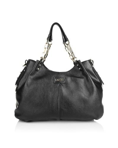 liu jo damen liu jo tasche shopping bag black in schwarz. Black Bedroom Furniture Sets. Home Design Ideas