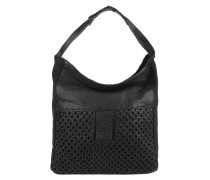 Tasche - Majory Canvas + Woven Veg Shopper Black