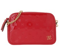 Umhängetasche Karligraphy Embossed Patent Shoulder Bag Red
