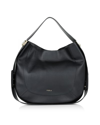 furla damen furla tasche luna m hobo onyx in schwarz. Black Bedroom Furniture Sets. Home Design Ideas