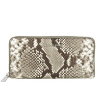Bedford ZA Continental Wallet Embossed Natural Portemonnaie beige