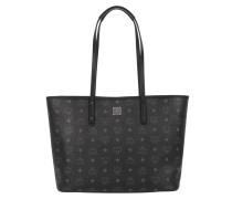 Anya Top Zip Shopper Medium Black