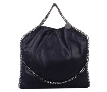 Falabella Shaggy Deer Fold Over Tote Navy
