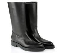 Prestige Calf Leather Bootie Nero