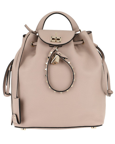 Valentino Damen Twiny Backpack Calf Leather Poudre Tasche