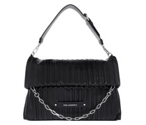 Hobo Bag Kushion Folded Tote Black