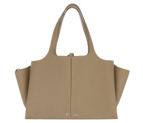 Tri-Fold Medium Shopper Light Taupe Umhängetasche beige