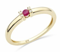Ring 9KT (375) Ruby and Diamonds