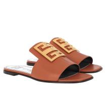 Sandalen 4G Sandals Grained Leather Cognac