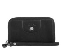 Kleinleder - Le Pliage Cuir Zip Around Wallet Small Noir