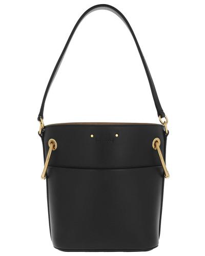 Beuteltasche Roy Bucket Bag Small Smooth Calfskin Black schwarz