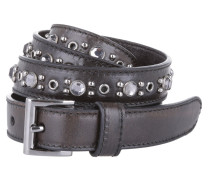 Vitello Vintage Cintura Ebano Gürtel