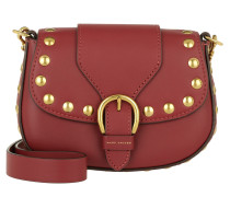 Small Studded Navigator Saddle Bag Cabernet Umhängetasche