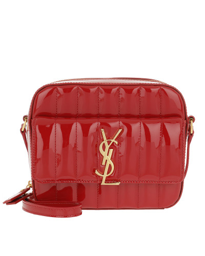 Umhängetasche Saint Laurent Quilted Camera Bag Vicky Rouge rot