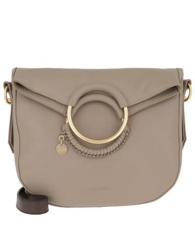 Tote Hana Shoulder Bag Leather Motty Grey beige