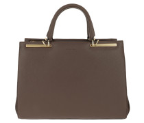 """Tote Claire 13"""" Handle Bag Brown/Brown/Gold"""