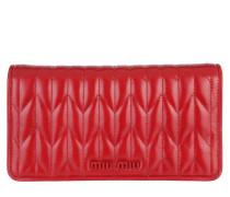Umhängetasche Matelassé Wallet On Chain Leather Rosso