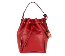 Bucket Minibag Saffiano Rosso Beuteltasche rot