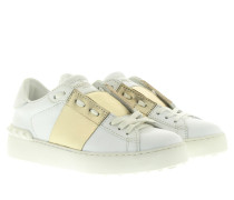 Rockstud Sneakers White/Gold Sneakers gold