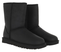 Boots W Classic Short Leather Black