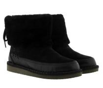 W Quinlin Fluff Bootie Classic Black Schuhe