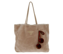 Montone Sheep Fur Shopping Bag Cipria Tote