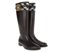 Boots & Booties - Icon Clip Housecheck Dougal Flat Riding Boot Black