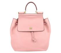 Dolce&Gabbana Tasche - Bottalato Flap Backpack Rosa Antico - in rosa - Umhängetasche für Damen