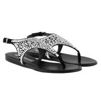 Crystal Sandal Black Sandalen
