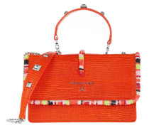 Umhängetasche Mini Bag Piping Con Ricamo Shoulder Sunset Orange