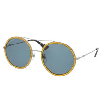 Sonnenbrille GG0061S-004 56 Sunglass WOMAN METAL RUTHENIUM
