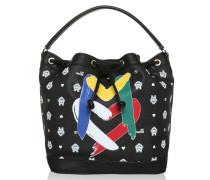 Tasche - PVC Stampa Monogramma Bucket Bag Black
