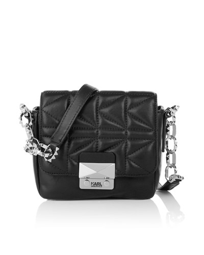karl lagerfeld damen karl lagerfeld tasche k quilted crossbody black in schwarz. Black Bedroom Furniture Sets. Home Design Ideas