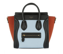 Tasche - Nano Luggage Calfskin Tote Pale Blue - in orange, blau, schwarz