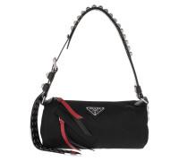 Tote Studded Shoulder Bag Nero/Fuoco Black/Red