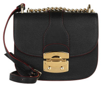 Madras Small Flap Umhängetasche Bag Nero gold