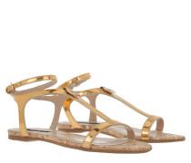 Flat Patent Sandal Shiny Gold Stars Sandalen gold