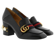 Loafer Mid Heel 75 With Pearls Black Pumps
