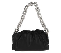 Hobo Bag The Chain Medium Pouch Leather Black