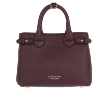 Banner S House Check Tote Burgundy