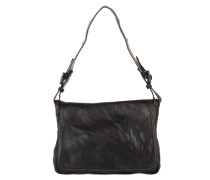 Bandoliera Handbag Embroided Handle Nero Satchel