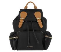 Patch Pocket Backpack Black Rucksack
