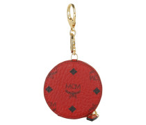 Color Visetos Zip Coin Charm Ruby Red Schlüsselanhänger
