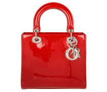 Tasche - Lady Dior Medium Patent Tote Rouge