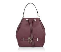 Guess Tasche - Katlin Drawstring Bucket Bag Claret Multi - in pink - Umhängetasche für Damen
